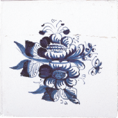 Blue dutch tile 1