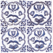 Blue three-tulip tile