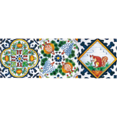 Multicolor dutch tiles